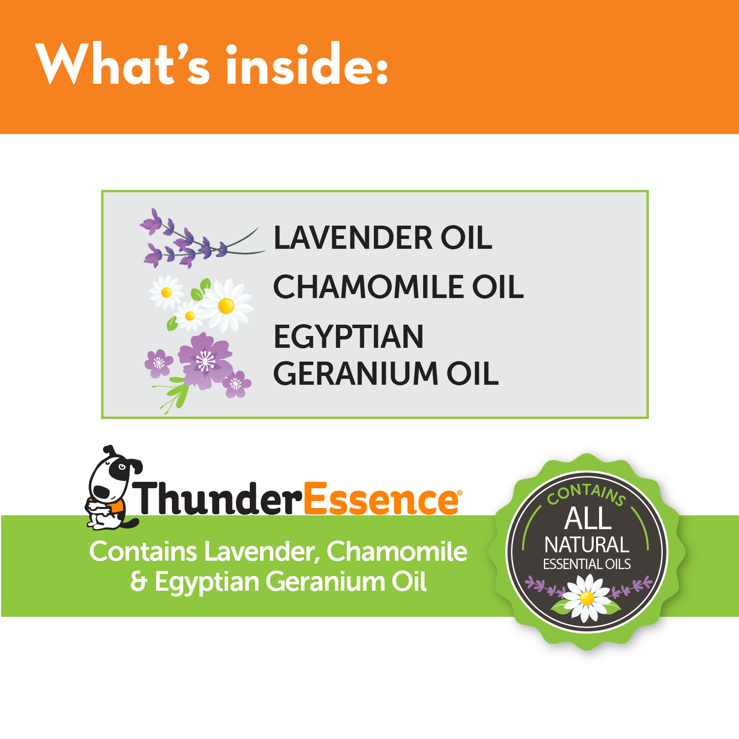 ThunderCloud Refill - Calming Essential Oils for Dogs Ingredients List