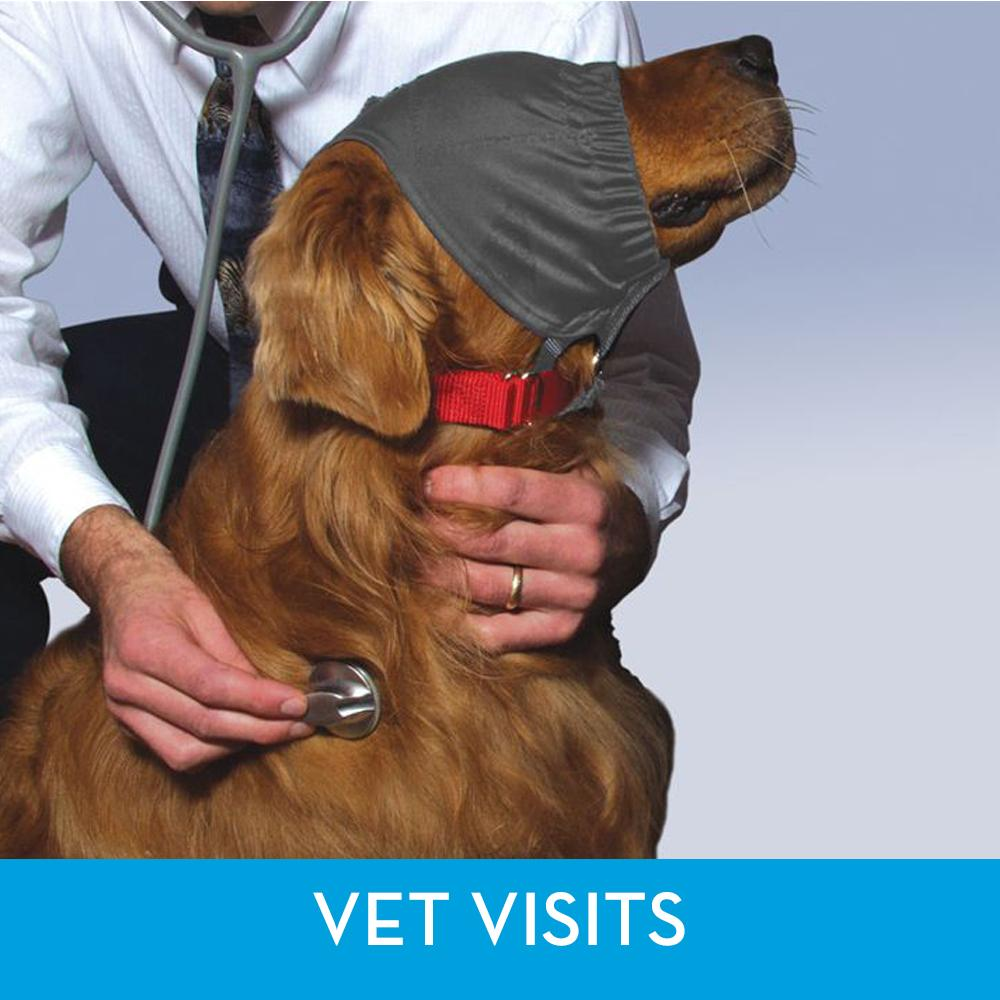 ThunderCap - Dog Calming Cap - Helps Dogs When Going to the Vet | T03-GCCXS | T03-GCCS | T03-GCCM | T03-GCCL