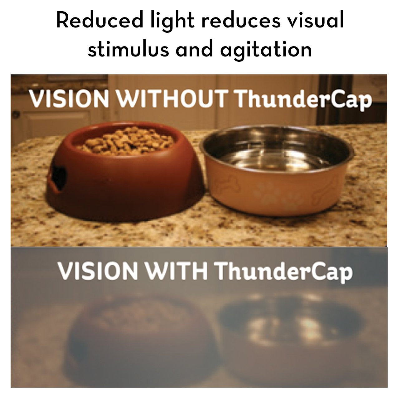 ThunderCap - Dog Calming Cap - How it Works | T03-GCCXS | T03-GCCS | T03-GCCM | T03-GCCL