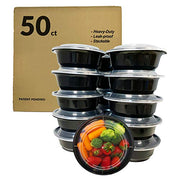 food containers, value pack, 50 count, bento boxes, leak-proof, food storage containers 16 oz bowls