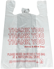 Thank You T-Shirt Bags - 350 Count - White