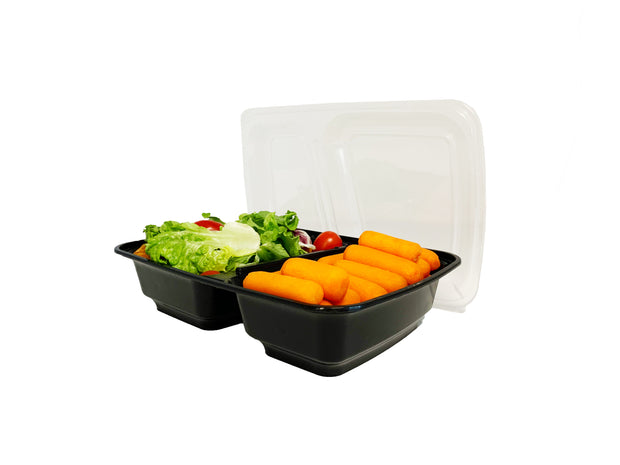 30 oz. Meal Prep Food Containers (two-compartments) - 50 Pack