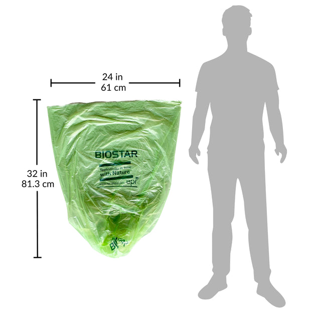 trash bag dimensions 24x32 green can liners
