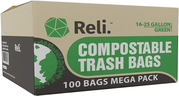 Compostable 16-25 Gallon - 50 or 100 Count - Eco-Friendly