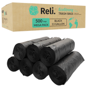 eco friendly 13 gallon trash bags ecostrong box made from recycled content Reli.