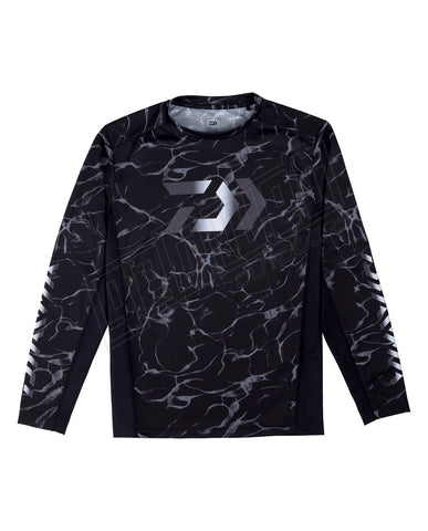 Daiwa Splash Fishing Shirt Black