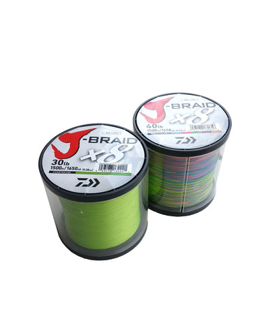 J-Braid 1500m Multi Colour Bulk Spools