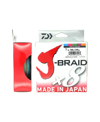 J-Braid 8x 500m Multi Colour