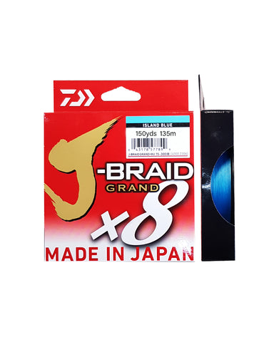 Daiwa J-Braid 150Yds Island Blue