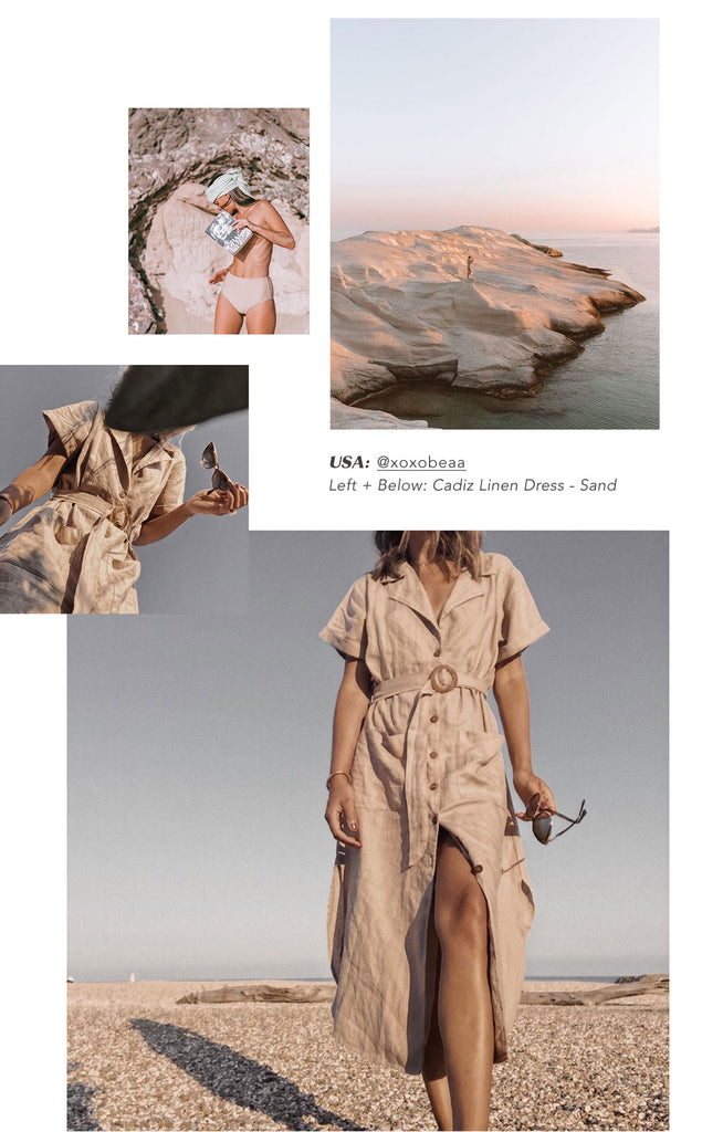 @xoxobeaa Cadiz Linen Dress - Sand