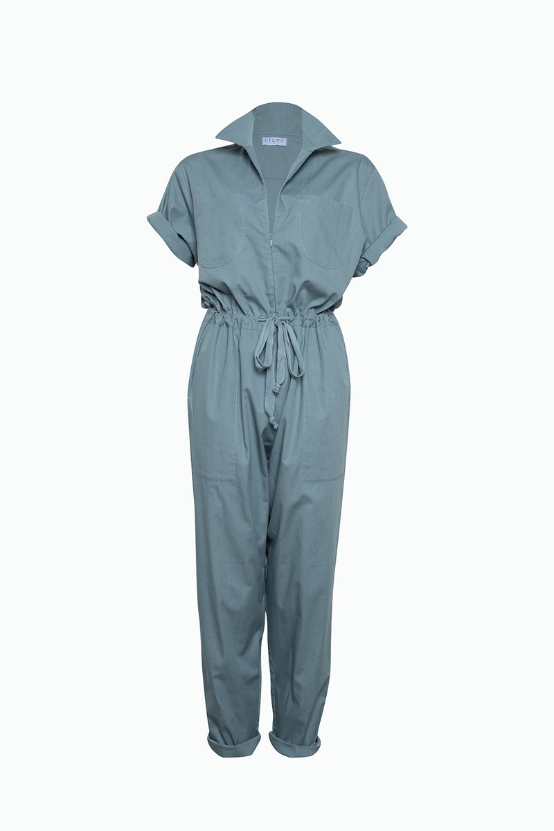 Farrah Cotton Jumpsuit - Denim