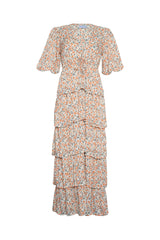 Sahara Frill Dress - Indian Corals