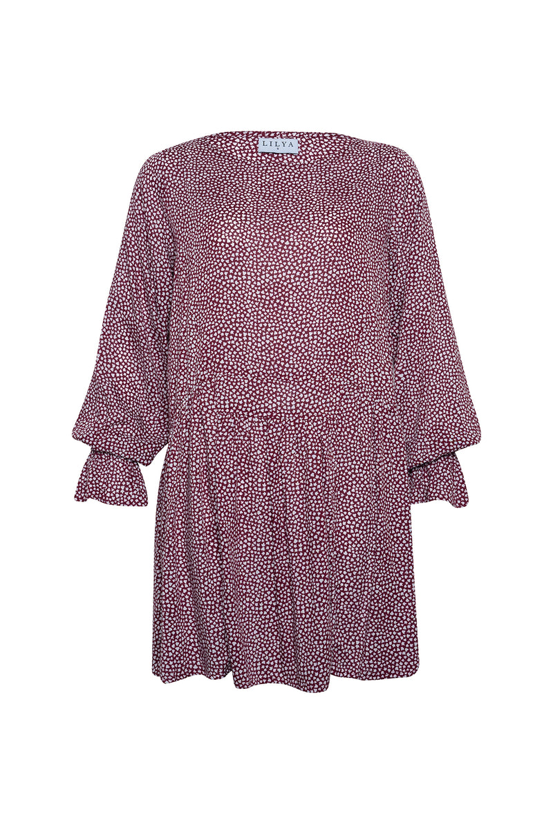 Tamara Dress - Wine Maple