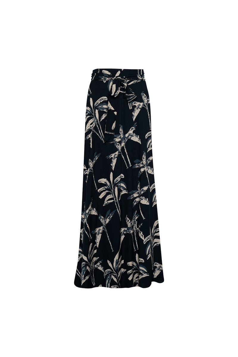 A picture of a palm print wrap skirt for summer by Lilya