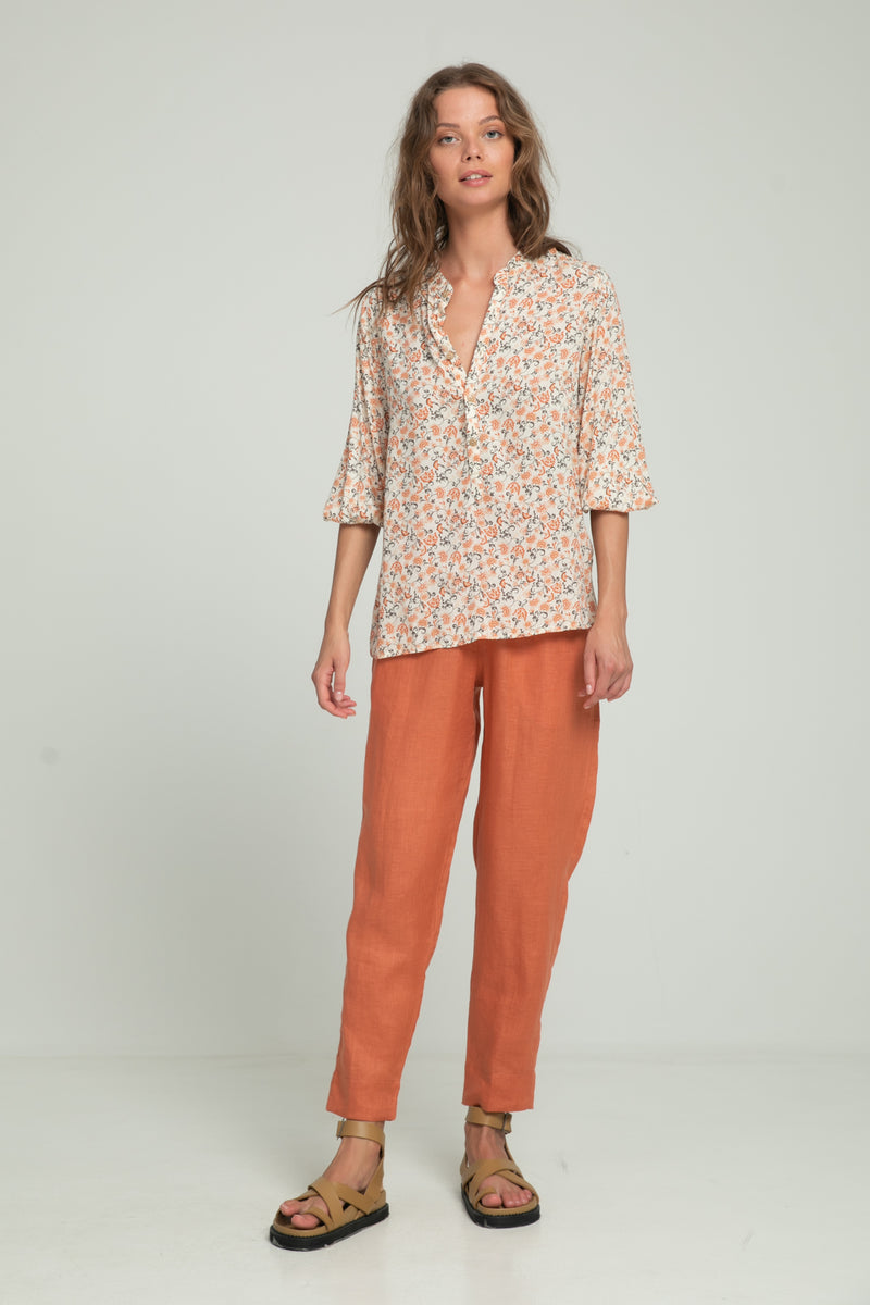 Agatha Blouse - Indian Corals