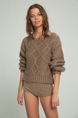 Knit Shorts - Mocca