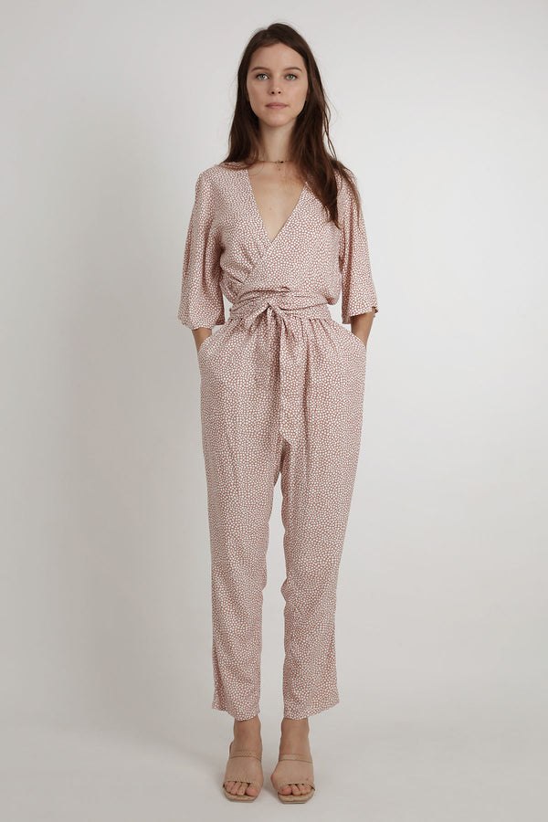 Athens Jumpsuit - Maple Brick