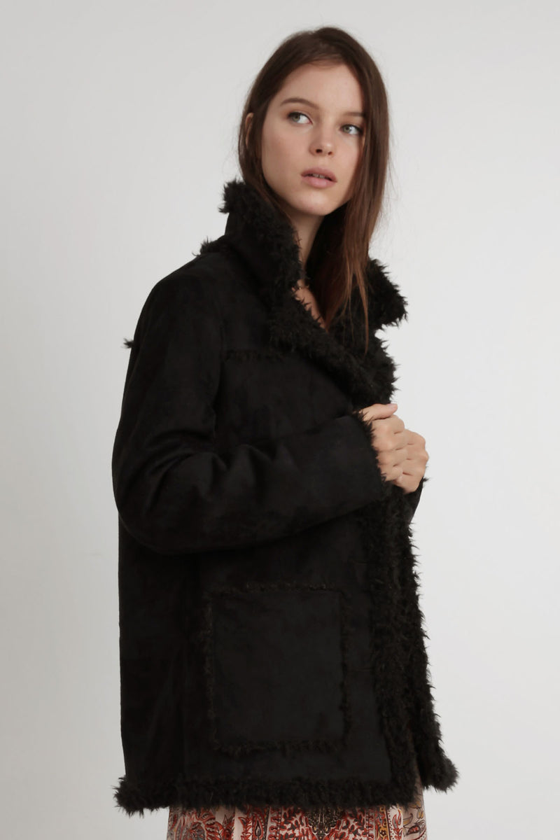 Boheme Shearling Jacket - Black