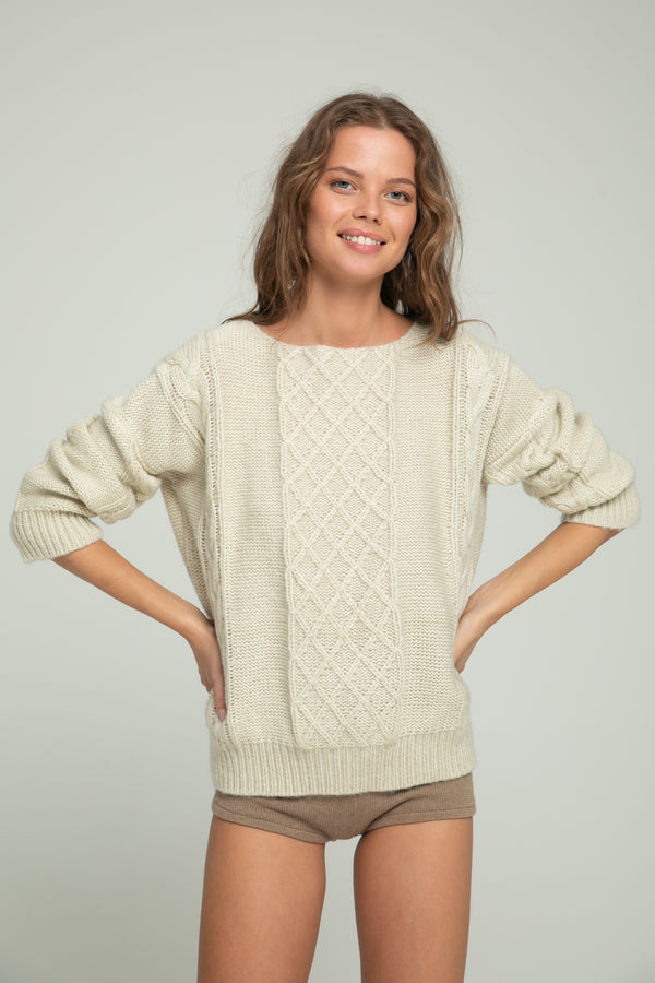 Cable Knit - Ivory