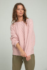 Cable Knit - Dusty Pink