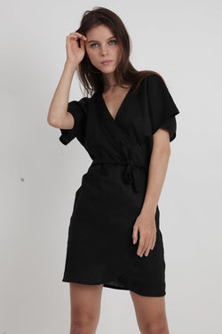 Roni Mini  Dress - Black