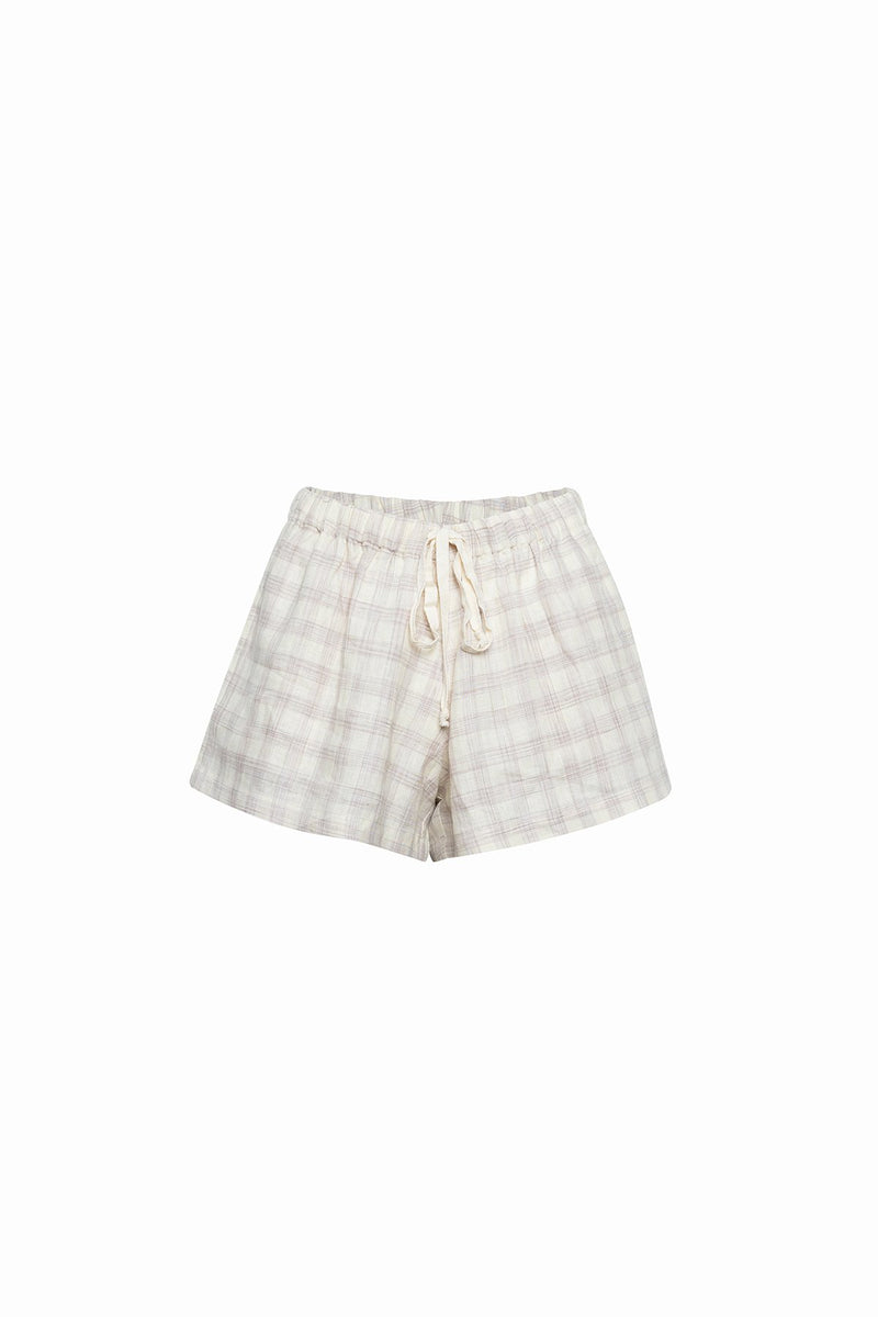 Sport Short - Beige Check