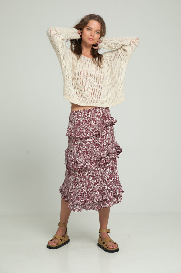 Lala Skirt - Wine Maple