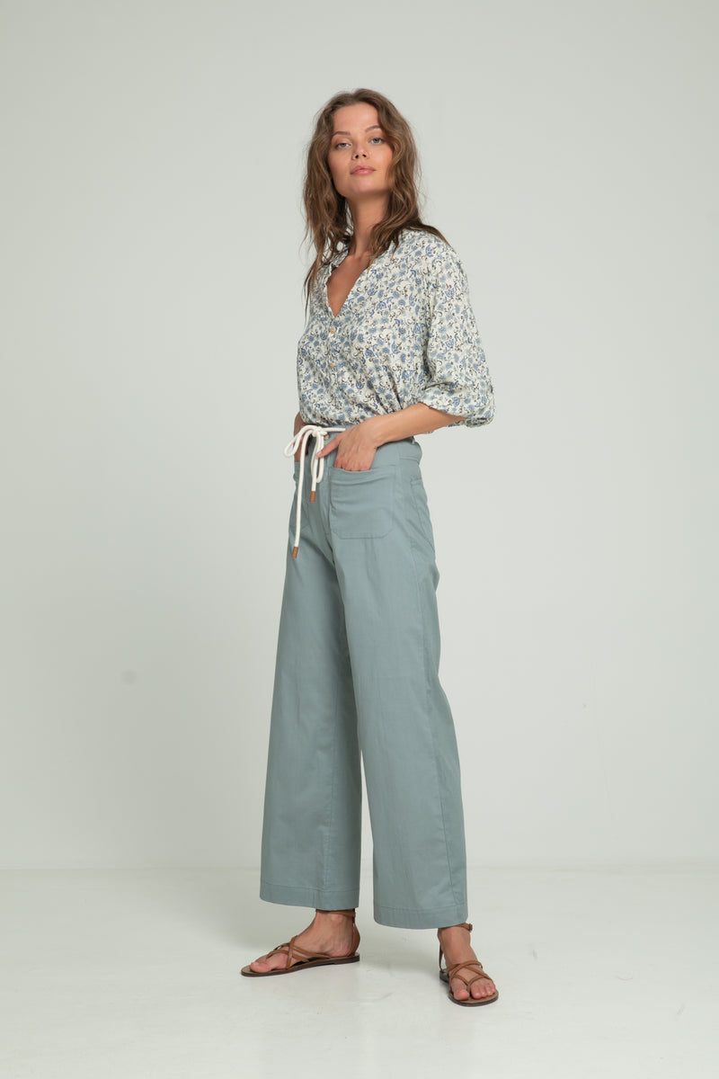 70's cotton high waisted pants by Lilya