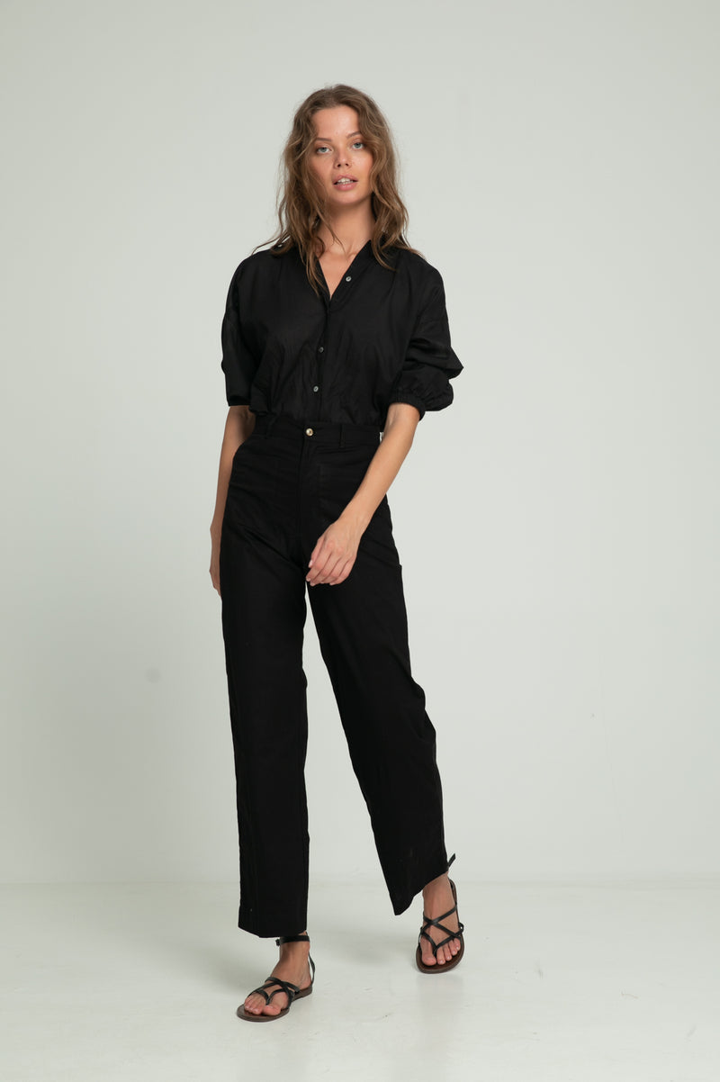 Molly High Waist Pant - Black