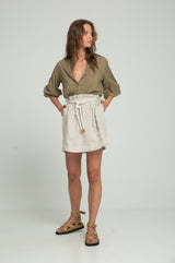 Todo Linen Skirt - Natural