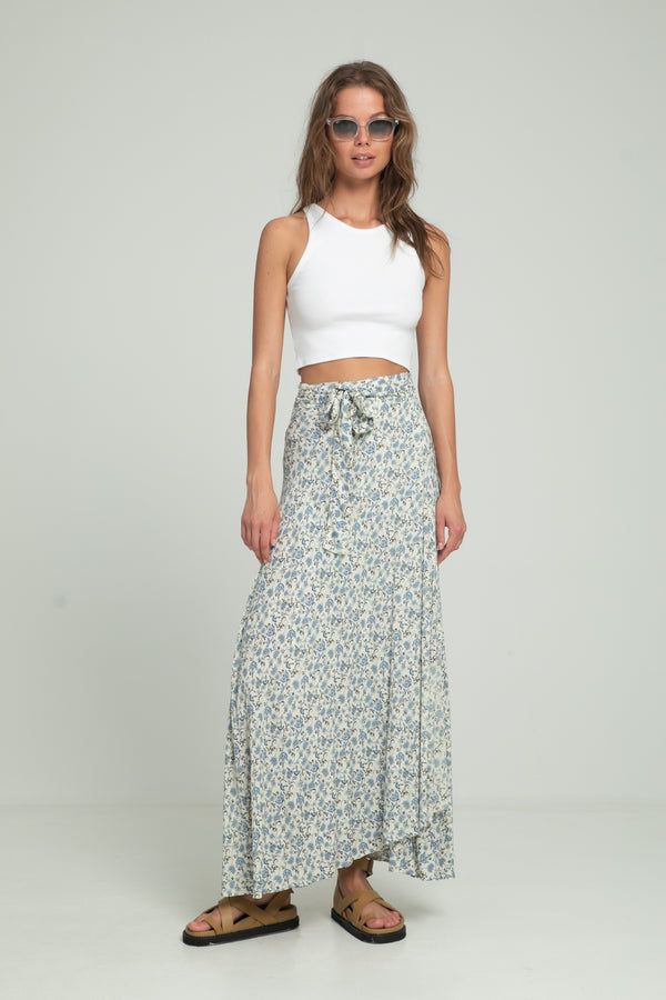Wrap Skirt - Indian Blues