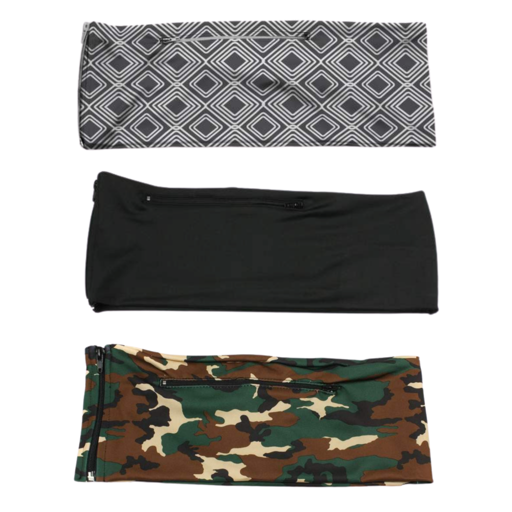 3 PACK BUNDLE- GREY DIAMONDS, JET BLACK, GREEN CAMO