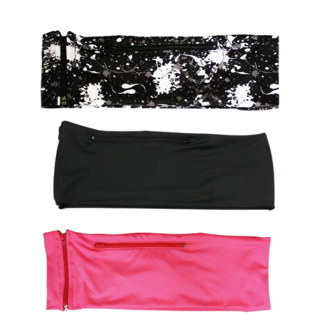 3 PACK BUNDLE- PAINT SPLATTER, JET BLACK, HOT PINK