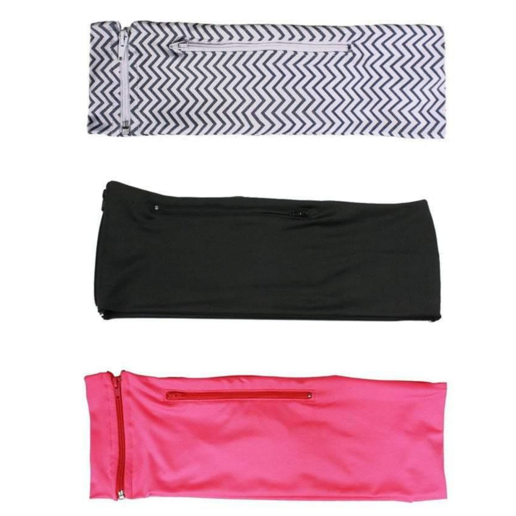 3 PACK BUNDLE- MINI CHEVRON, JET BLACK, HOT PINK