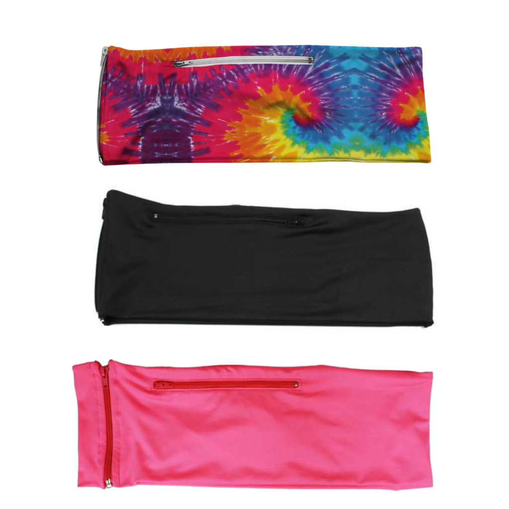 3 PACK BUNDLE- TIE DYE, JET BLACK, HOT PINK