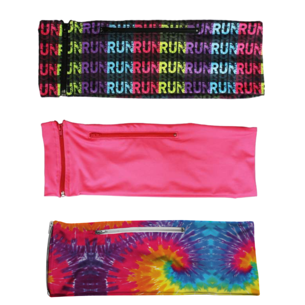 3 PACK BUNDLE-  RUN RUN, HOT PINK, TIE DYE
