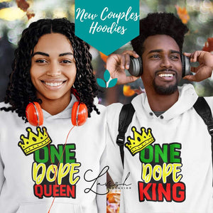 One Dope Queen/King Hoodies