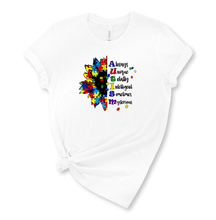 Load image into Gallery viewer, Autism Flower Graphic T-Shirt