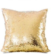 Load image into Gallery viewer, Mermaid Customized Gold Sequins Photo Pillow