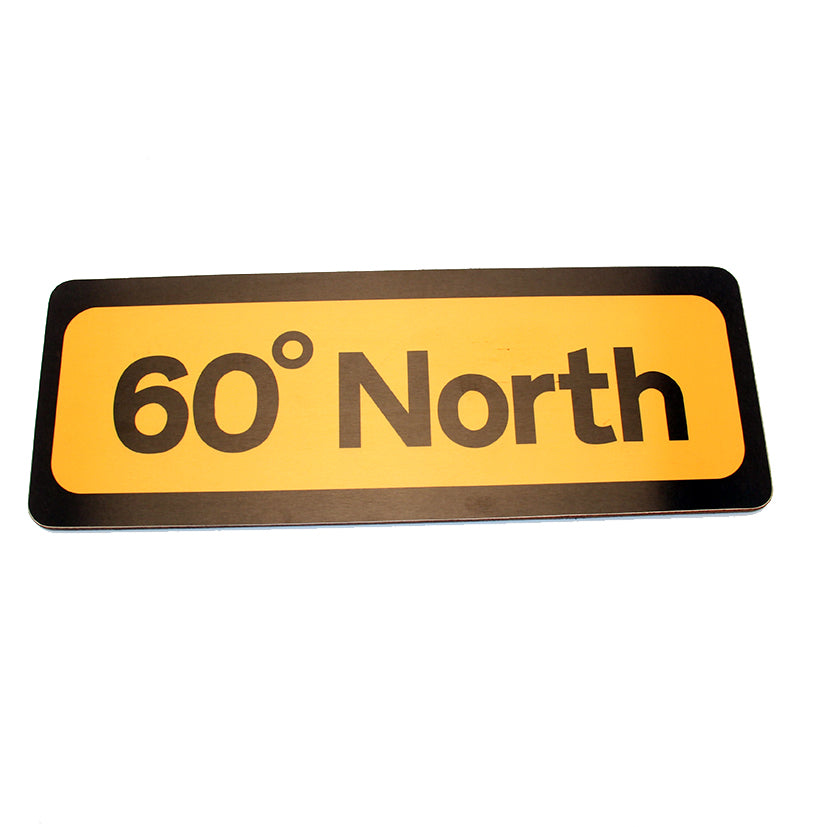 60 North Magnetic Road Sign
