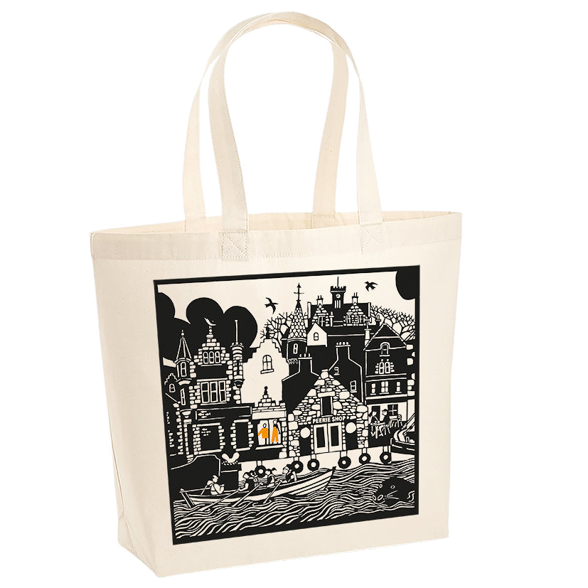 Lerwick Waterfront Cotton Bag