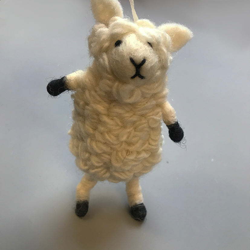 Upright hanging sheep decoration