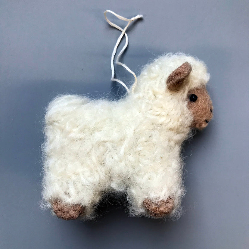 Felt sheep decoration