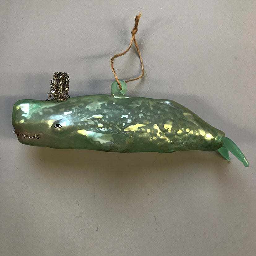 Glass Whale Decoration