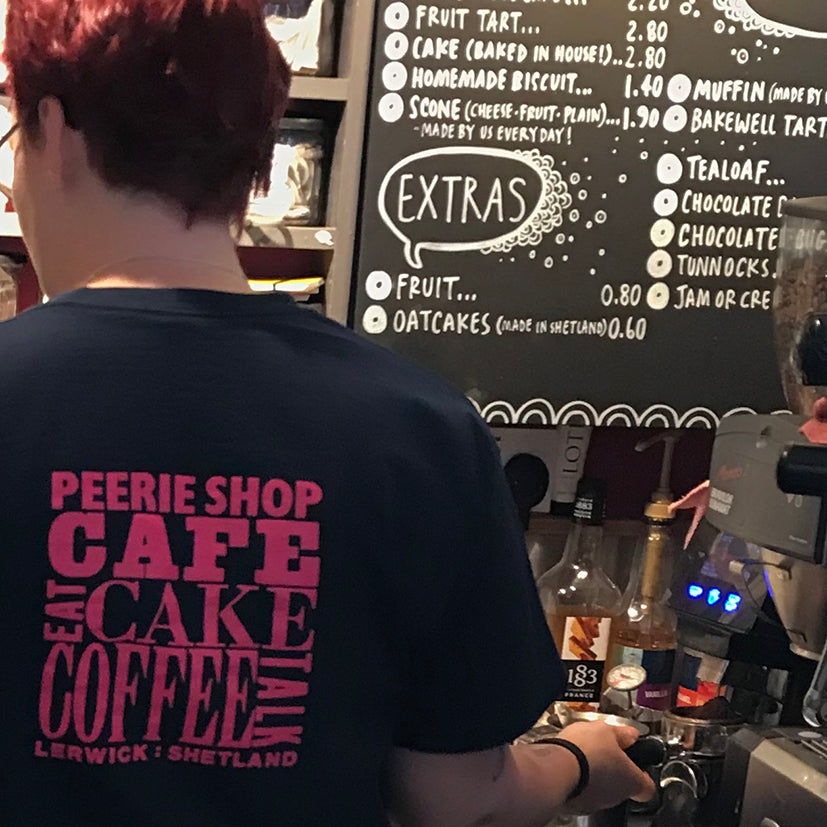 Peerie Shop Cafe t-shirt