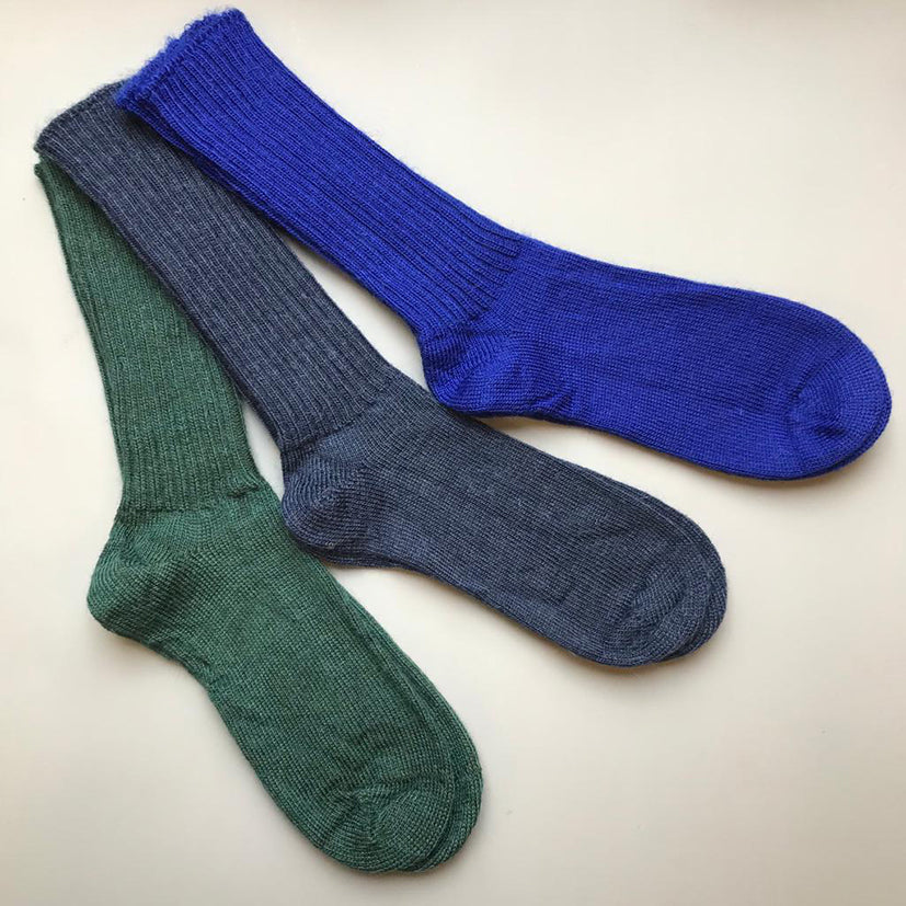 Mohair socks made in UK