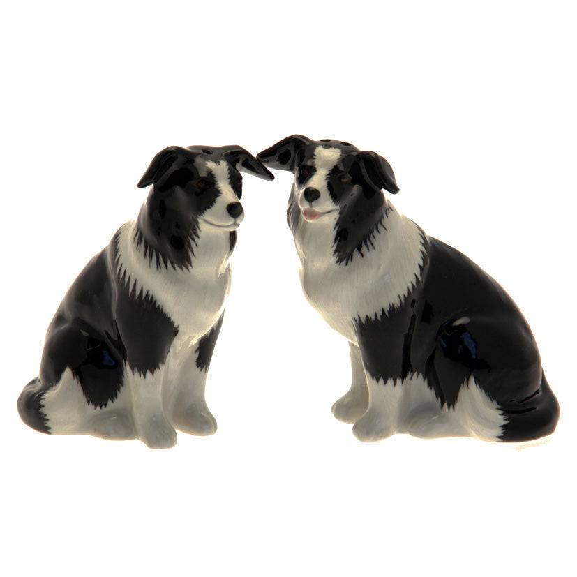 Ceramic Collie Salt And Pepper Shakers