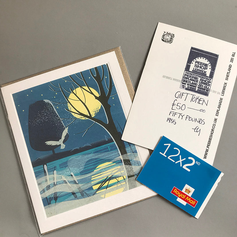 Gift token, card and stamp