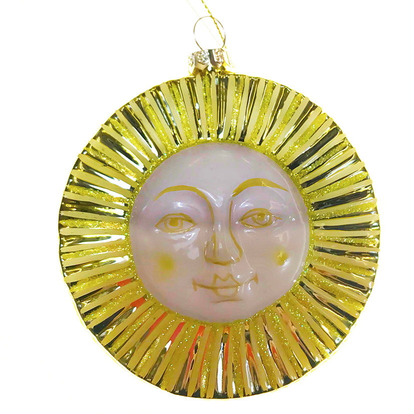 Glass sun decoration