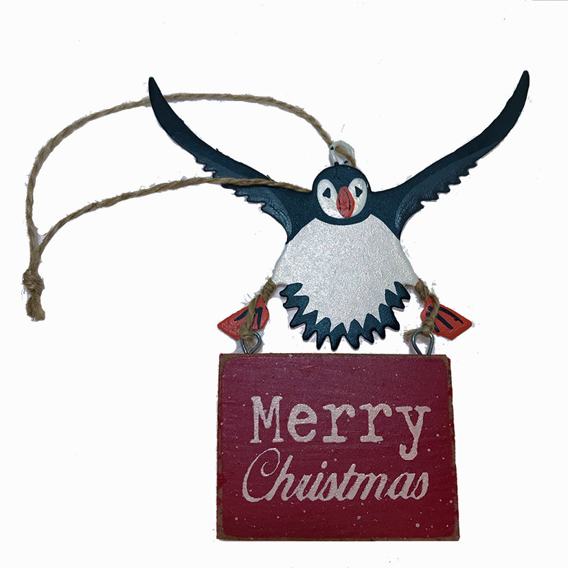 Merry christmas puffin